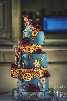 Steampunk Wedding Cake | The worlds best Steampunk wedding | Alice - Bridal Wedding ...