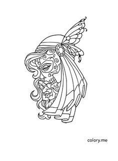 300 Adult Coloring Pages Are Available In Colory App For Lovers All PagesColoring BookSugar SkullItunesFree DownloadOut