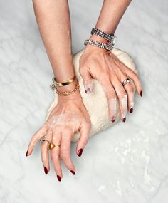mistress of her kitchen - red nails, pretty jewelry and bread-baking, perfect. Beautiful Rocks, Jewelry Photography, Food Photography, Photography Accessories, Simple Pleasures, Eye Candy, Jewelery, Fashion Jewelry, Jewellery Photo