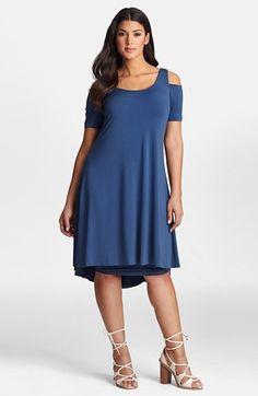 Mynt 1792 Cold Shoulder Shift Dress (Plus Size) available at #Nordstrom