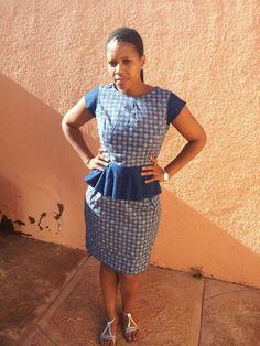 Seshoeshoe Peplum Dress by ForeverFaith Couture