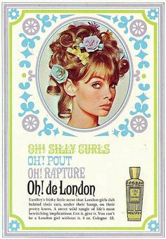 Classic Vintage Yardley's ad -  featuring Jean Shrimpton