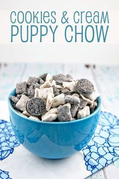 Cookies and Cream Puppy Chow Recipe Puppy chow Oreos and Sugaring