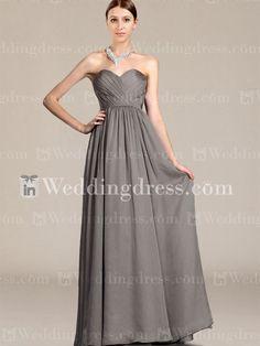 Long Bridesmaid Dress_Charcoal