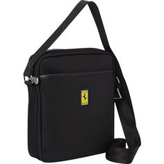 Ferrari Luxury Collection Utility Cross Body Medium Shoulder Bag ($192) ❤ liked on Polyvore featuring bags, handbags, shoulder bags, black, messenger bags, shoulder handbags, transparent handbags, metallic handbags, crossbody shoulder bags and laptop handbag