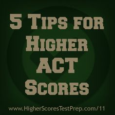 Higher Scores Test Prep's founder Lauren Gaggioli shares her top 5 ACT tips and tricks. These tips are designed to help you boost your ACT score fast. College Test, Education College, Sat College, College Ready, Physical Education, Act Tips And Tricks, Acting Tips, Free Act Prep, Learning