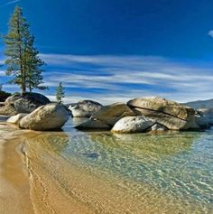 Kings Beach in Lake Tahoe - my family's favorite vacation spot, we've been going for many years over 4th of July holiday.