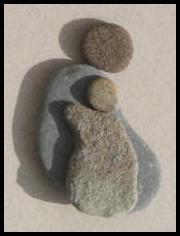 Pebble Art - Love of a Child