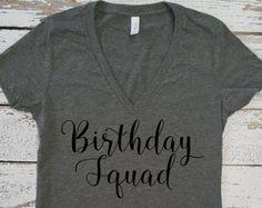 Birthday SQUAD T-Shirt / Birthday shirt Ladies / 21st Birthday shirt / 30th Birthday shirt 21st Birthday Shirts, 21 Birthday, Birthday Ideas, Leopard Birthday, Squad, T Shirts For Women, Crafts, Manualidades, Handmade Crafts