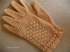 tutorial crochet gloves