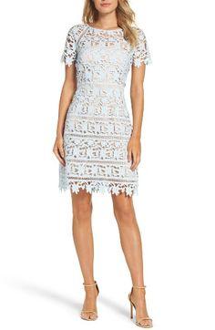 Eliza J Crochet Overlay Dress (Regular & Petite)   Nordstrom