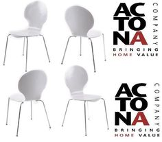 From 72.99 Chaise Marcus Designer Moulded Dining Chairs White X 4