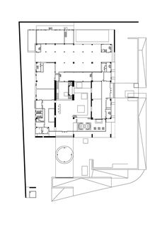 Yinzhou City Investment Office Building Renovation,Ground Floor Plan