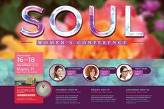 Women's Conference Flyer Template 2 by SeraphimChris on @creativemarket