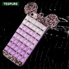 YESPURE Fancy Bling Diamond Mouse Ears Luxury Phone Cases for Iphone Women Phone Accessories Mobile for Iphone Mobile Shop, Mobile Cases, Mouse Ears, New Phones, Iphone Models, Phone Accessories, Apple Iphone, Iphone Cases, Bling