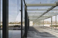glazen wandelgang - toegang in glas glass entrance - cutted glass - aorta AZ Alma