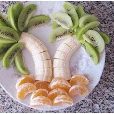 Make your fruit in to a paradise island that tastes good too!