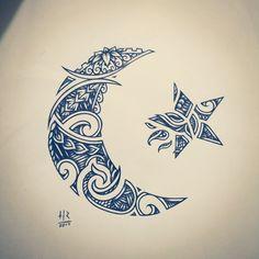 Lua e estrela (Renascimento) - Maori
