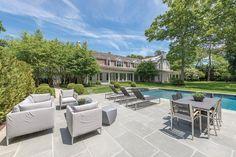 Hamptons pool and patio