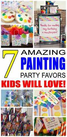 Is it time to start planning party favors for your Art Painting Party? We have some cool ideas for you to choose from. These party favors ideas are sure to be a hit with kids. Find some of the best art painting birthday party favors here! Teen Party Favors, Party Gift Bags, Birthday Party Favors, Birthday Ideas, Birthday Gifts, Birthday Sayings, Birthday Images, Birthday Greetings, Kids Art Party