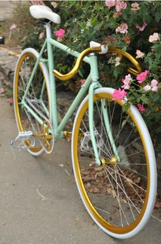 like this color combo... In case I ever get around to repainting my schwinn