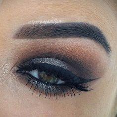 Image via We Heart It #beautiful #eye #eyebrows #girl #lashes #makeup #Prom