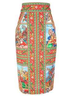 From Shop the Look: Grace Fuller  Dolce & Gabbana patterned pencil skirt, $1,145