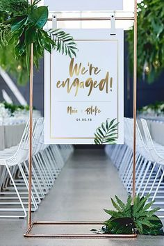 home accessories Shop wedding events - Naia Gold & Tropical Leaf Welcome Sign (DIY Print) Marie's Wedding, Wedding Tips, Wedding Events, Rustic Wedding, Wedding Flowers, Wedding Receptions, Weddings, Destination Wedding, Wedding Catering