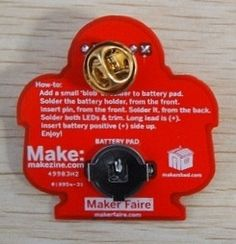Learn to Solder Skill Badge Kit-If we did some sort of basic skills training, this could be useful, but it could be neat outreach if we designed and produced our own (light up buttons at World's) Robot Kits, School Levels, Skill Training, Well Thought Out, Soldering, Pos, Badge, Designers, Buttons