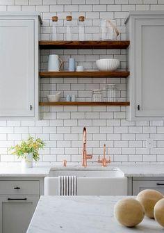 Kitchens Ideas Open Shelf Subway Tile Html on