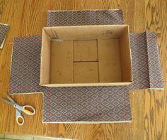forrar cajas telas cartón