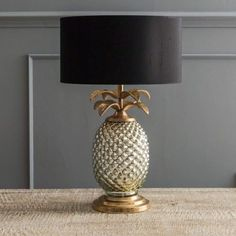 Silver & Gold Pineapple Lamp Silver & Gold Pineapple Lamp. 125 sterling including delivery CVO4609 H.43cm W.17cm