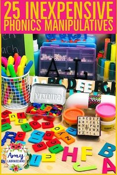 Learning Lessons With Amy Labrasciano: 25 Inexpensive Phonics Manipulatives