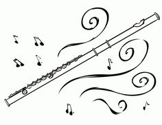 Music notes are interesting subjects to feature on coloring pages. Music and art both are integral to develop a child's creative faculty. Flute Drawing, Flute Tattoo, Music Clipart, Music Doodle, Music Wall Art, Music Drawings, Coloring Sheets For Kids, Music Images, Musicals