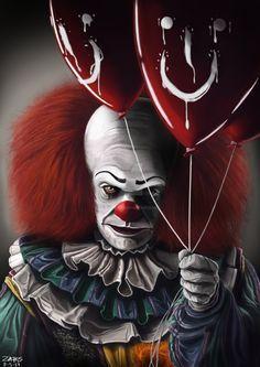 Pennywise the Dancing Clown by NZachos on DeviantArt Es Der Clown, Le Clown, Creepy Clown, Pennywise 1990, Pennywise The Dancing Clown, Clown Horror, Arte Horror, Horror Movie Characters, Horror Movies