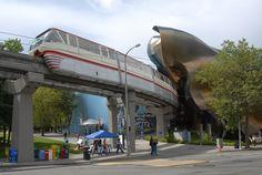 Monorail, Seattle, USA..