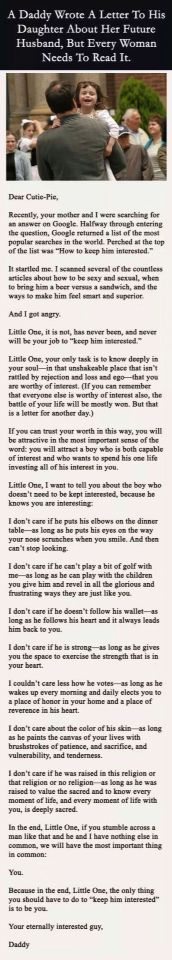 Every girl needs to read this. No matter what age you are.