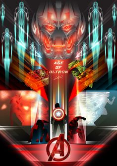 Avengers: Age of Ultron Vector Tribute - Created by Chris Middleton