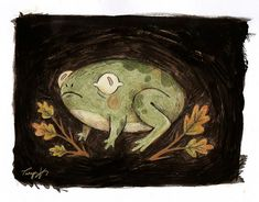 "taryndraws: ""a teeny tiny frog friend "" Animal Drawings, Art Drawings, Frog Art, Aesthetic Drawing, Frog And Toad, You Draw, Cute Art, Art Inspo, Concept Art"