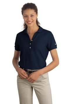 94d9c87f6 Nike Golf Ladies Pique Knit Polo Golf Shirt 297995 This shirt it pictured  in Skyline Blue