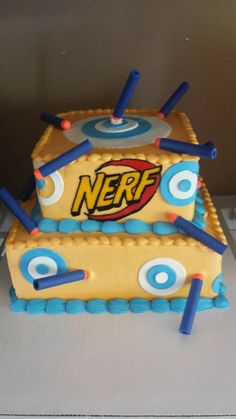 Nerf gun cake cakes I made Pinterest Nerf gun cake Gun cakes