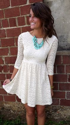 Love this with brown cowboy boots and turquoise necklace!
