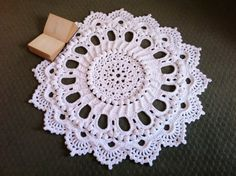 Crochet Doily Rug  Splendid  Handmade Doily Rug by MissyDDesigns, $190.00