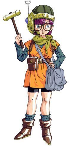 Lucca (from Chrono Trigger), she looks like Arale-chan (from Dr.Slump), but it makes sense, since the artist is Toriyama Akira!