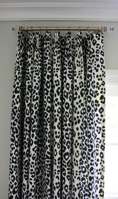 Schumacher Iconic Leopard Custom Drapes (Shown in Ink - comes in 6 colors)
