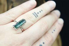 Raw Gemstone Jewelry and Custom Bridal Jewelry by the Fox and Stone Bohemian Tops, Modern Bohemian, Raw Gemstone Jewelry, Bridal Jewelry, Unique Jewelry, Silver Wedding Rings, Raw Gemstones, Green Tourmaline, Statement Rings