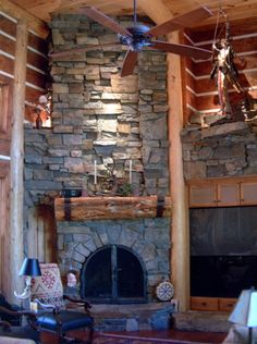 Shaver Lake fireplace east of Fresno in the Sierra.  I like square cut stone fireplaces.