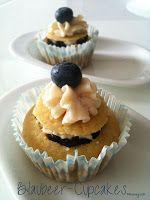 Mit Blaubeercreme gefüllte Cupcakes gönnten wir uns am Nachmittag