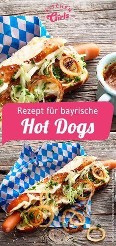 Recipe for bavarian scorching canines oktoberfest wiesn rezepte Hot Dogs, Hot Dog Recipes, Whole 30 Recipes, Sandwich Recipes, Hamburger Meat Recipes, Sausage Recipes, Melon Recipes, Oktoberfest Party, Food Tags