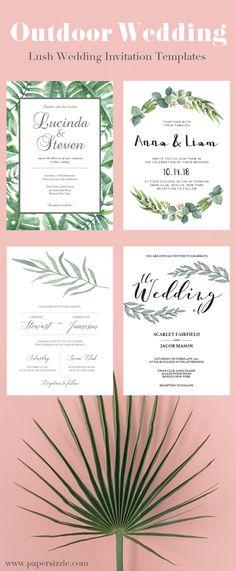 Lush eucalyptus wedding invitations are on trend This greenery - professional invitation template